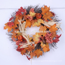 2016 Gourd Berry Floral Wreath Mixed Fall Wreath