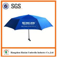 Günstigen Preisen!! Fabrik liefern 2 Sektionen Regenschirm mit krummen behandeln