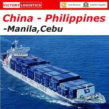 Sea Freight/Logistics/Shipping From Sehnzhen/Shanghai/Ningbo/Dalian/Qingdao/Tianjin/Shanghai China to Manila, Cebu, Philippines