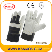 White Furniture Cowhide Leather Industrial Hand Safety Work Gloves (310061)