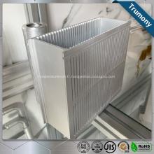 Profil en aluminium enduit de cadre de porte de fenêtre d'extrusion de modèle