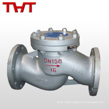 dn150 pn16 cast steel lift type poppet check valve sizing