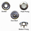 Oeko-Tex 100 Passe Metal Cap Prong Snap Button