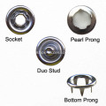 Custom Fashion Shirt Snap Button Pearl Prong Fastener
