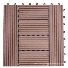 3D Embossing Interlock Waterproof Outdoor Composite WPC Decking Floor Tile