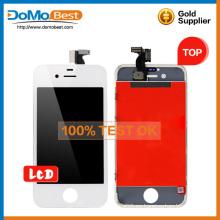 100% original alta calidad lcd touch panel, piezas de repuesto para iphone 4s lcd