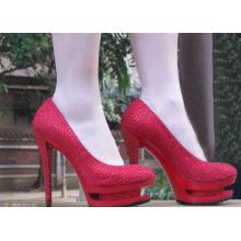 2016 novo estilo de moda sapatos de salto alto vestido (hcy07-004)
