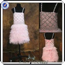 FF0008 verdadera muestra de plumas skrt rosa niña de flores se viste para 7 años de edad