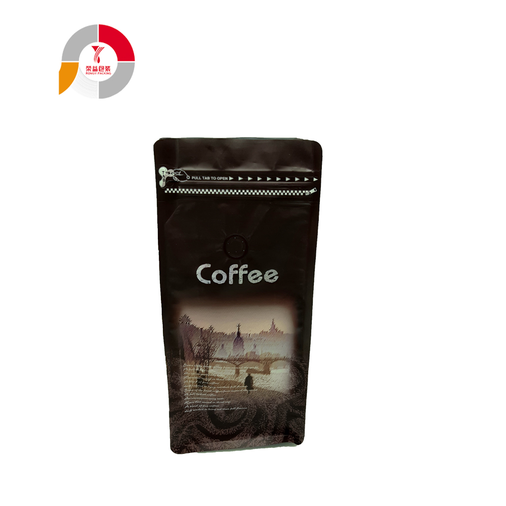 Custom Zip up Coffee Bag with Air Valve