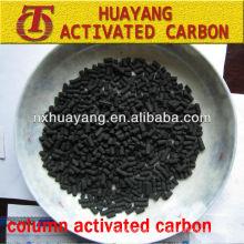 valor de yodo 1000mg / g columna de carbón activado / carbón activado a base de carbón