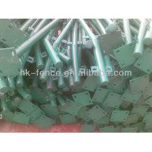 Chine usine fournir de haute qualité temporaire pvc enduit postes de clôture