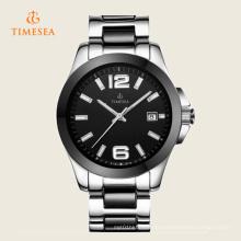 Frauen automatische Uhr Keramik Wr100m Datum Kleid Uhr 71107