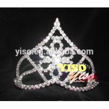 fashion rhinestone clear flower pageant tiara