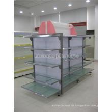 Ökonomisches Radglas und Metall Display Regal, Bodenständer Kommerzielle Gondel Einzelhandel Regal