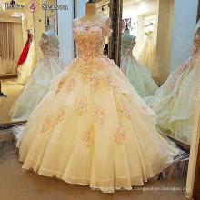 LS00110 O-pescoço étnico appliques luxo designer roupas femininas vestido com contas