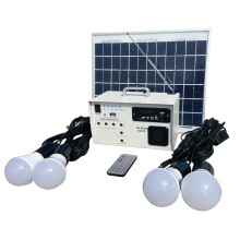12v 10w portable rural solar led  lighting with radio