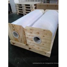 Rollo de PVC brillante blanco para embalaje