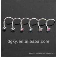 Bijoux fantaisie à nez et anneaux à nez de mode