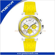 Reloj de cuero deportivo de moda impermeable de cuarzo de la venta caliente
