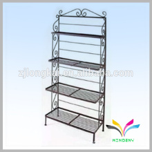 Wrought iron black garden artificial display flower rack for putting plant flowers