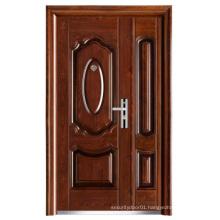 Walnut Colour Mother-Son Steel Security Door