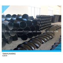 Codo de tubo de 90degree de acero de carbono soldado