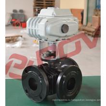 220В электрический Фланцевый шаровой клапан 3 дюймов