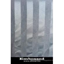 100 полиэстер тиснением ткани полосы