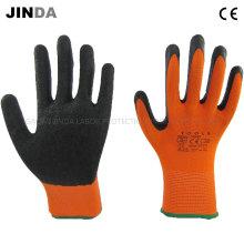 Полиэфирные латексные латексные защитные рабочие защитные рабочие перчатки (LS208)