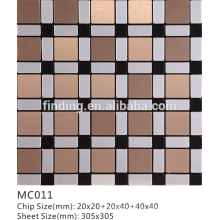 tightly spaced ACP self- adhesive decorative mosaic tile