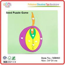 Montessori Material de la botánica, madera montessori Seed Puzzle