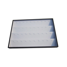 40 Slot White Black Leather Tiers Jewelry Display Pendentif