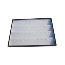 40 слотов Белый черный кожаный ящик для ювелирных изделий Подвеска для лотков