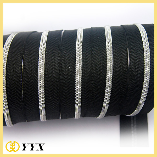 nylon zipper with metal teeth