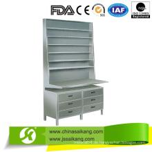 Edelstahl Schreibtisch Dispensing Medicine Shelf