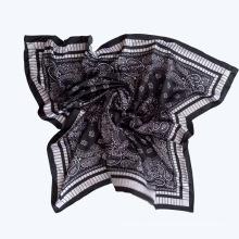 Dame Mode gedruckt Satin Seide Magic Schwarz Schal