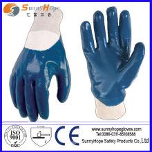 Безопасная рабочая нитриловая резиновая перчатка для продажи в Китае