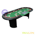 Texas Holdem Poker Table with Dealer Position for 9 player