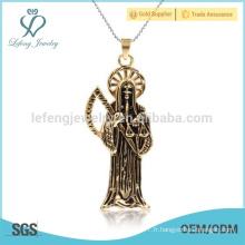 Prix raisonnable en chaîne mince en or simple design pendentif, pendentif antique nouvelle boussole