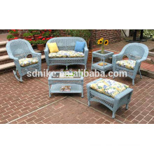 the lovely small floral rattan kids sofa