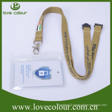PVC horizontal or upright transparent badge holder with lanyards