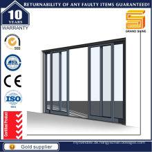 Fabrik Preis Aluminium Schiebetüren mit Jalousien