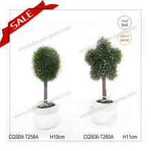 Decoración de jardín de moda de PVC H10-19cm Árbol de Topiary para la decoración del hogar