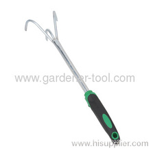 Garden Hand Fork With Double Color Plastic Handle