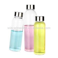 Botellas de cristal especiales al por mayor del agua de Voss con el logotipo de la etiqueta
