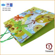 Bolsa de papel impreso impreso de la mano del regalo de las compras