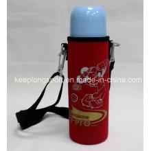 Nuevo diseño personalizado neopreno botella titular con cinturón de hombro