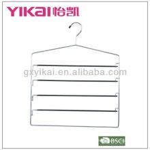 PVC revestido metal calças cabide com 5 níveis de barras