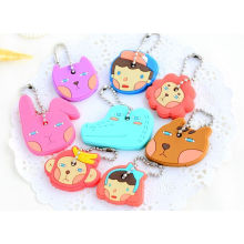 Popular Silicone Keyring with Custom Design