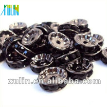 BB083 Solta strass cristal Rondelle Spacer Beads